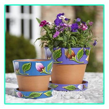 Painted Flower Pot Designs poster