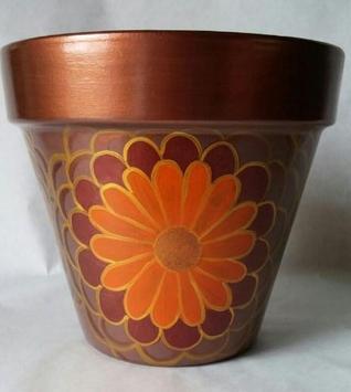 Painted Flower Pot Designs screenshot 1