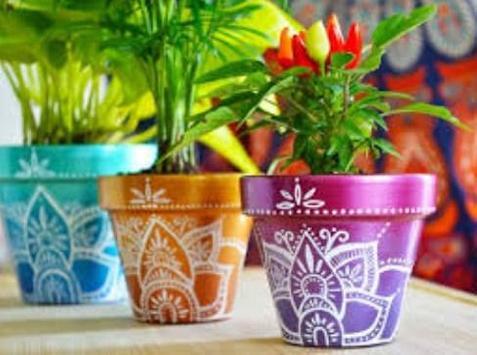 Painted Flower Pot Designs screenshot 2