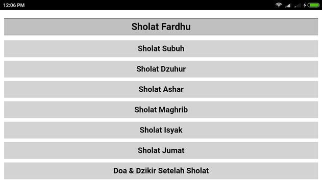 Tuntunan Sholat Lengkap Doa dan Audio Offline screenshot 1
