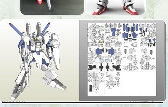 Papercraft Gundam Toy Design screenshot 7