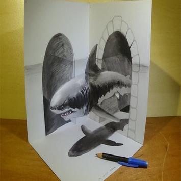Pencil 3D Art Painting poster