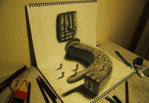 Pencil 3D Art Painting screenshot 2