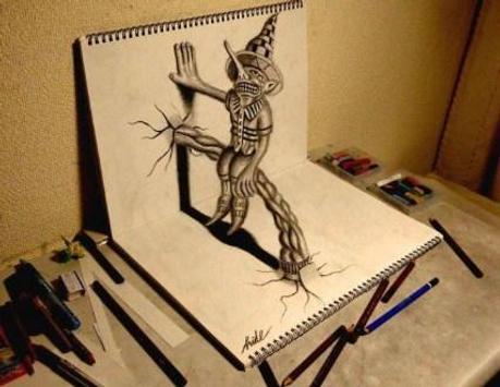 Pencil 3D Art Painting screenshot 4