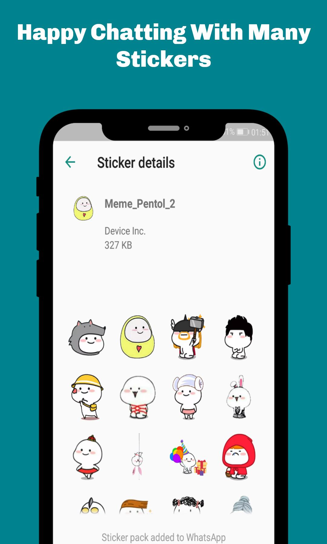 Pentol Lucu Stickers For Whatsapp Wastickerapps For Android Apk Download