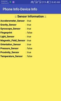 Phone Info Pro (Device Info-Sensor Info-SIM USSD) screenshot 3