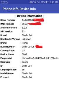Phone Info Pro (Device Info-Sensor Info-SIM USSD) screenshot 1