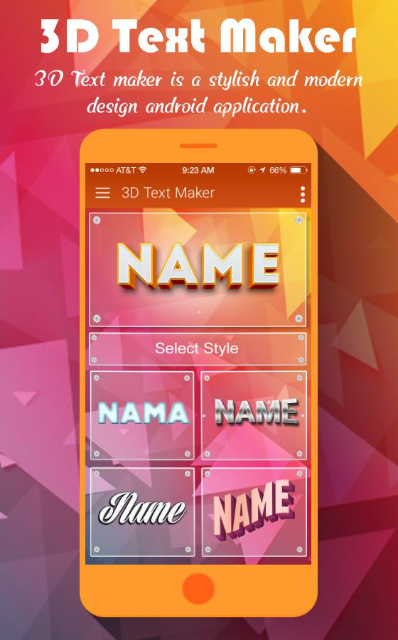 3d Text Maker For Android Apk Download