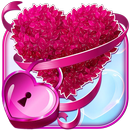 Pink Love Heart Lock Screen Pattern APK Android