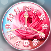 bc557be53 وردة زهرية ساعة حائط خلفية حية for Android - APK Download