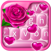 Pink Rose Valentine Keyboard icon