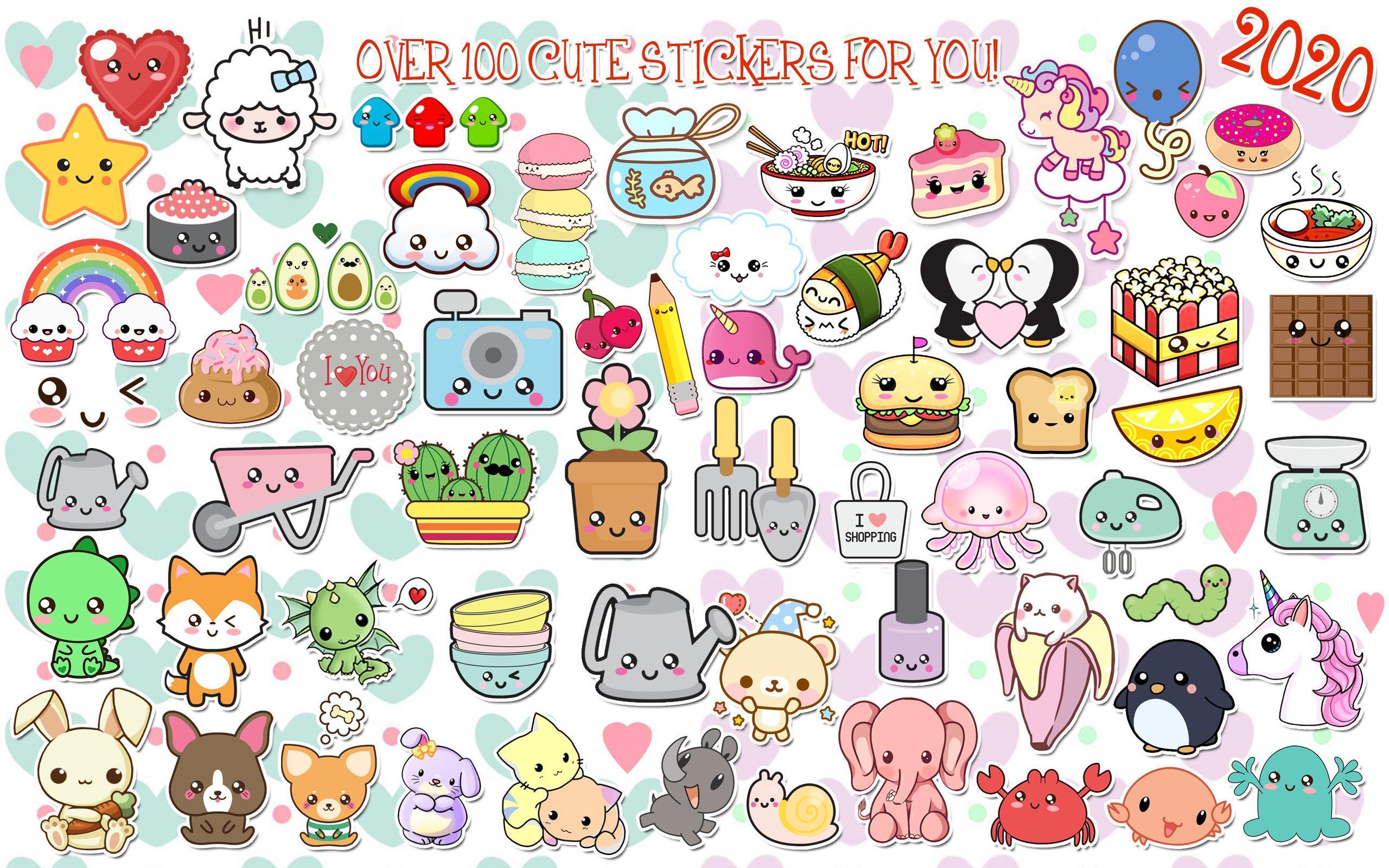 Edit Foto Kawaii ➯ Stiker Untuk Foto Lucu For Android APK