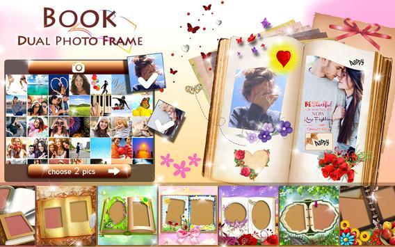 Molduras de Livros 📖 Colagem de Fotos Duplas imagem de tela 9