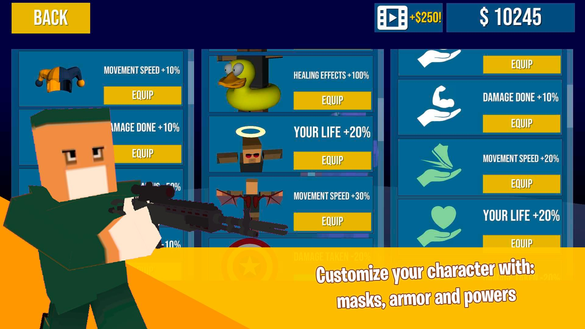 Pixel Battle Royale Games - Deathmatch FPS Shooter for