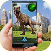 Pocket Dinosaur Raptor Blue icon