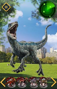 Pocket Dinosaur Raptor Blue poster