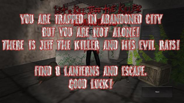 Let's Kill Jeff The Killer Chapter 3 - Abandoned poster