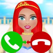 princess call simulation game icon