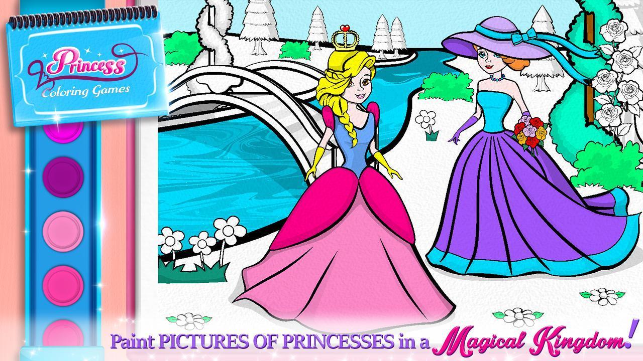 игры раскраски принцессы для андроид скачать Apk