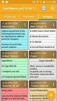 Cool Memo & To Do Tasks Colourful Reminder Notes screenshot 5