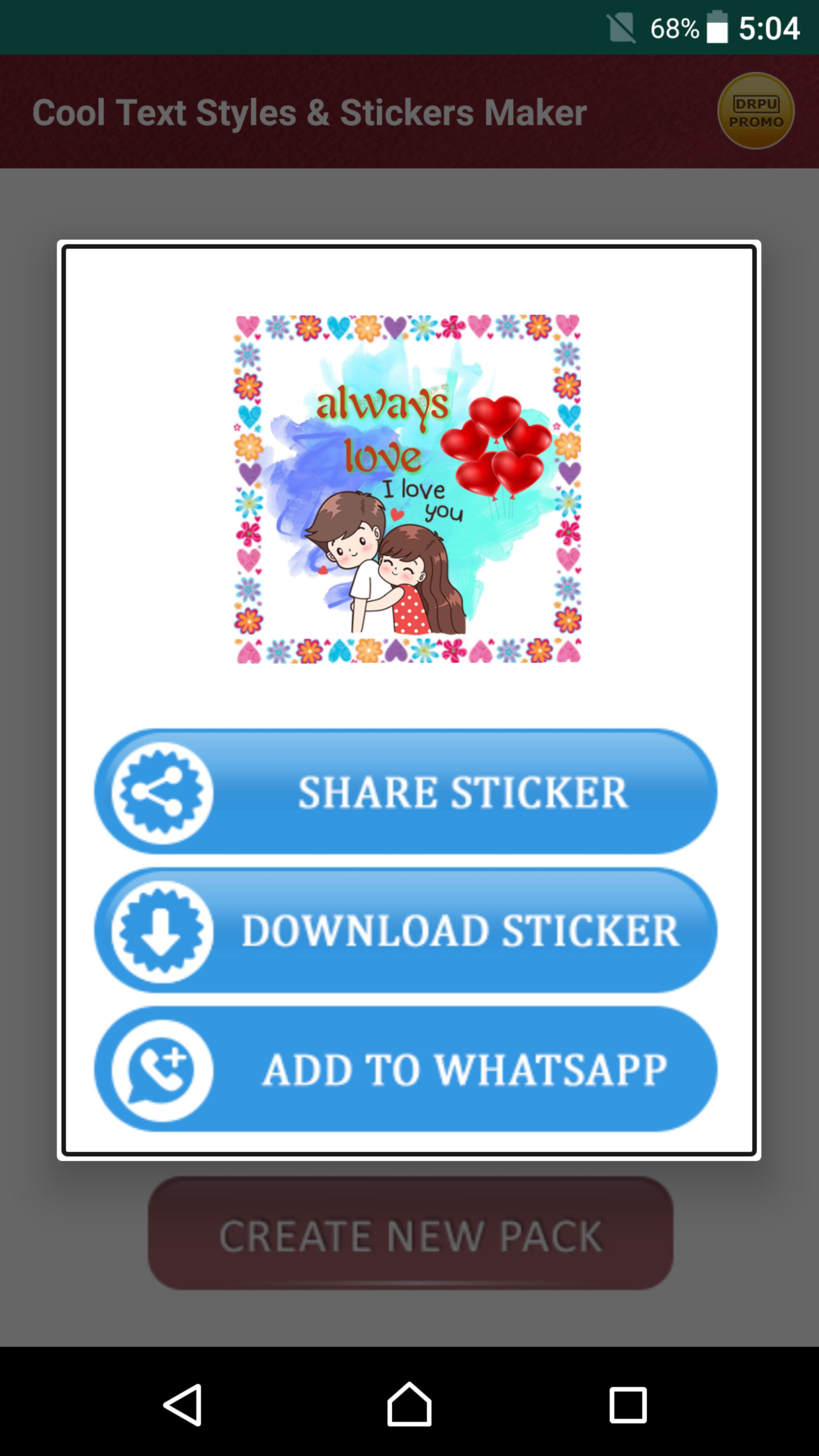 Cool Stickers Maker & Designer Text Styles Editor for