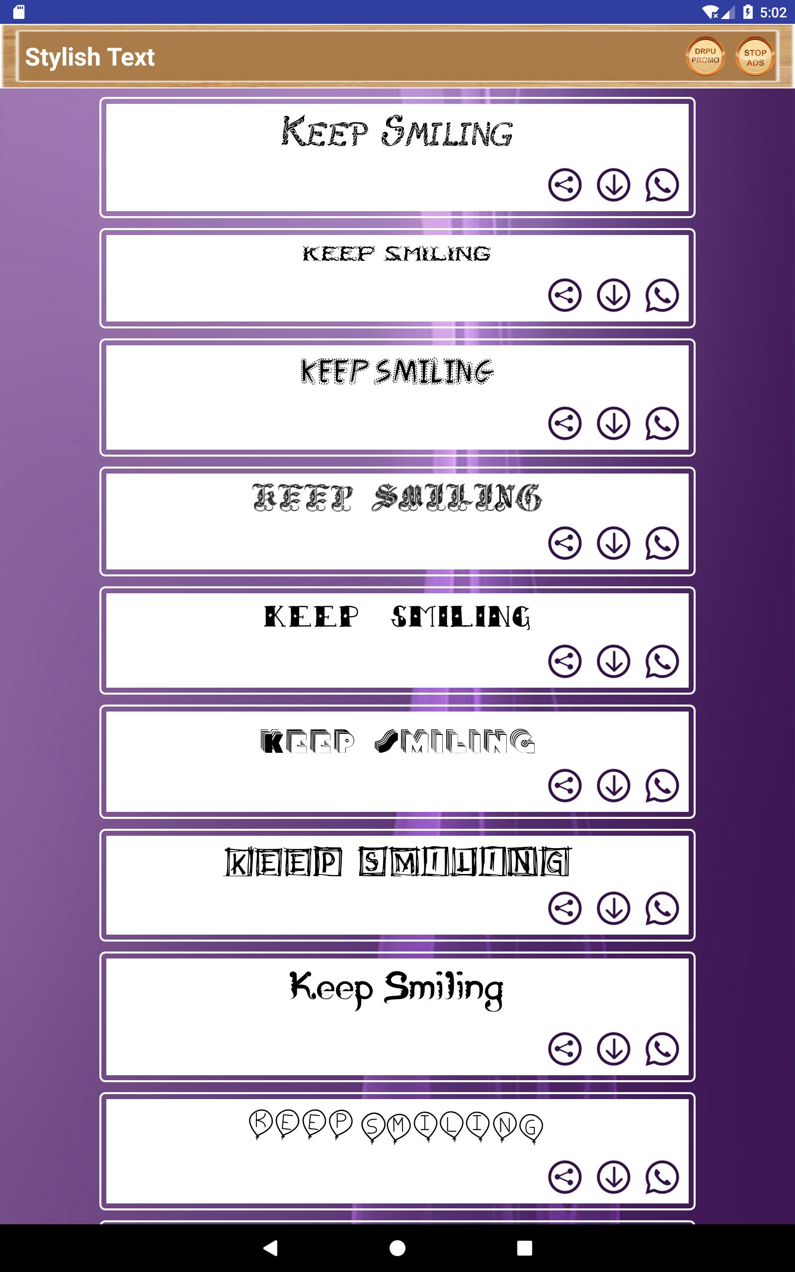 Smiley Face Art & Emotions Text Fonts Word Arts for Android - APK