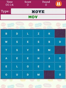 Word Search Speed Puzzle: Characters Find Puzzles screenshot 13