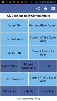 daily gk Current Affairs poster