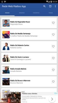 Rádios na Web App poster