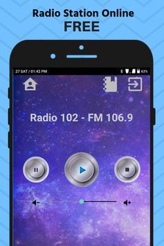 Radio 102 FM 106.9 NO App Station Free Online screenshot 1