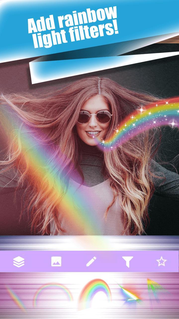 подобные эффект радуги на фото приложение бесплатно найдем несколько