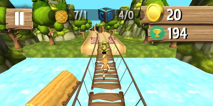 Jungle Runner 3D captura de pantalla 6