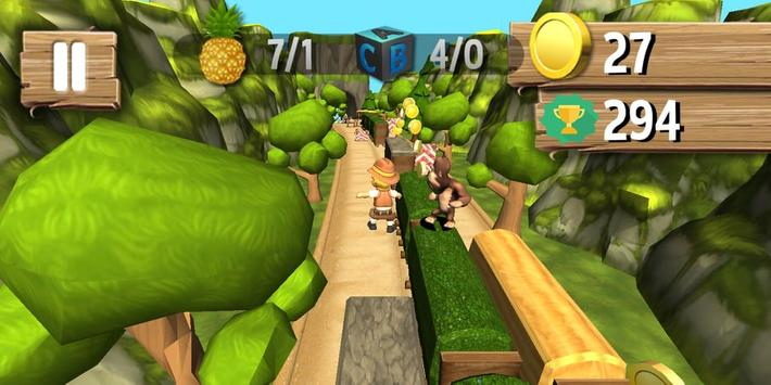 Jungle Runner 3D captura de pantalla 7