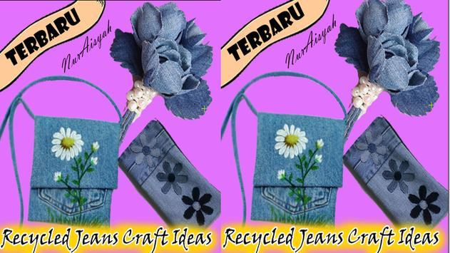 Recycled Jeans Craft Ideas poster