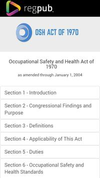 OSH Act of 1970 poster