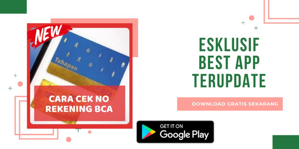 Cara Cek No Rekening Bca Lengkap 2020 For Android Apk Download