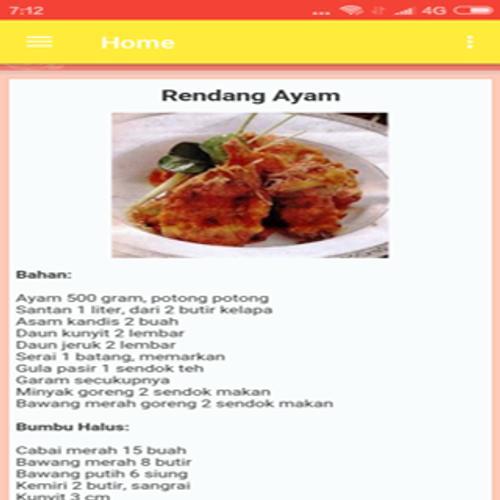 Resep Masakan Ayam Enak Pour Android Telechargez L Apk