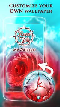Rose Clock Live Wallpaper poster