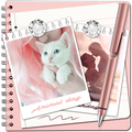 Rose Gold Pink Notes with Photo