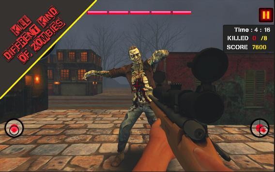 Dead Zombie Hunter 3D: Zombie Shooting Games screenshot 1