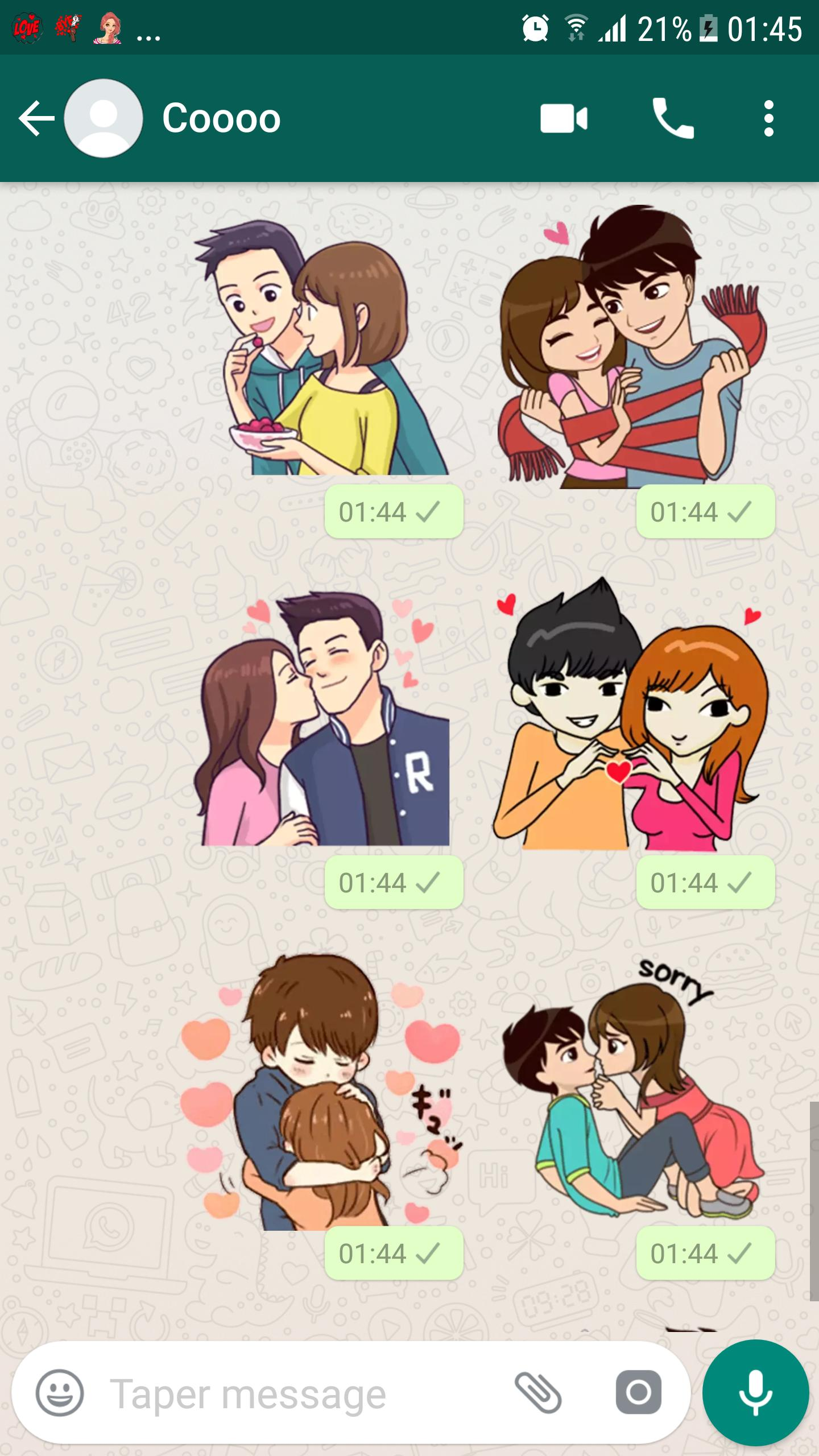 Pp Wa Keren Anime Couple - Doni Gambar