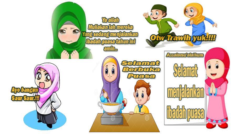 970 Koleksi Gambar Kartun Lucu Edisi Ramadhan HD Terbaik