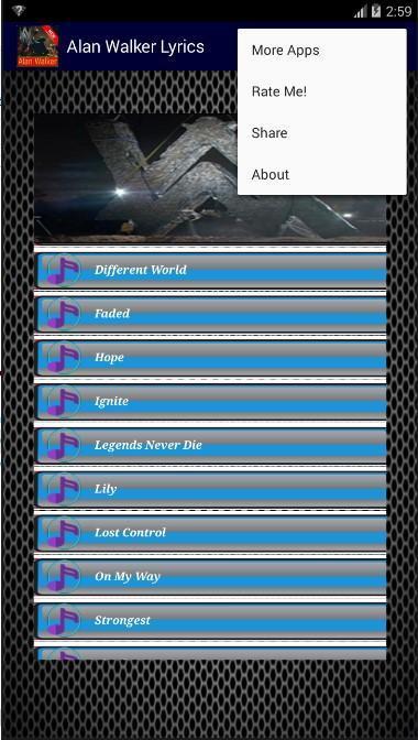 Alan Walker Song HD MP3 Offline & Lyrics for Android - APK