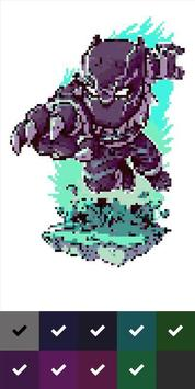 Superhero Pixel Color by Number screenshot 1
