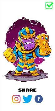 Superhero Pixel Color by Number screenshot 4