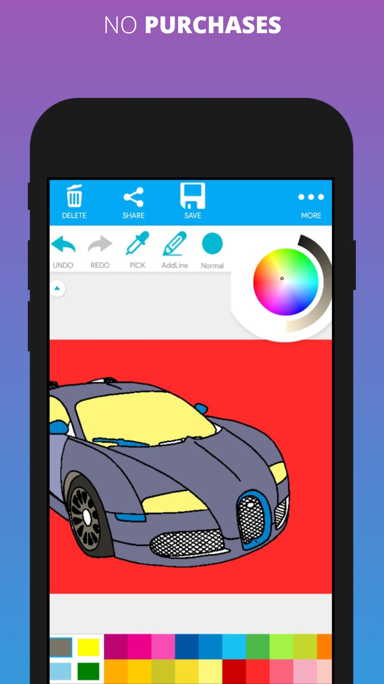 Supercar Coloring Pages Adult Coloring For Android Apk Download