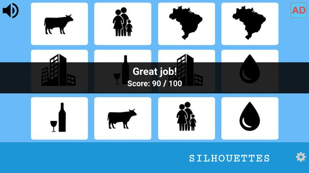 Memory Game - Silhouettes screenshot 2