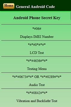Mobiles Secret Codes of SAMSUNG screenshot 7