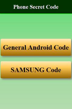 Mobiles Secret Codes of SAMSUNG screenshot 1