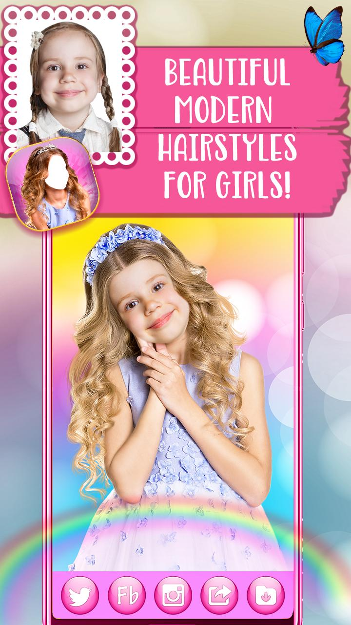 Cute Hairstyles For Girls Hair Changer App For Android